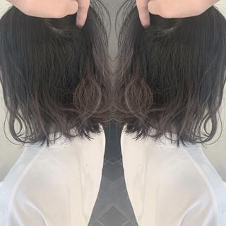 ナチュラル 外国人風 切りっぱなしボブ 簡単スタイリング ヘアスタイルや髪型の写真・画像