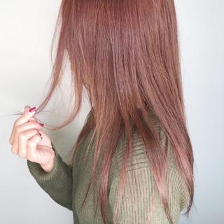 ラベンダーピンク 透明感 ロング ラベンダー ヘアスタイルや髪型の写真・画像