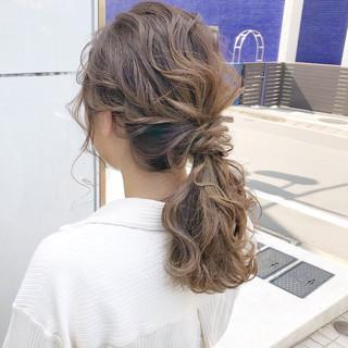 オフィス 簡単ヘアアレンジ 結婚式 セミロング ヘアスタイルや髪型の写真・画像 ヘアスタイルや髪型の写真・画像