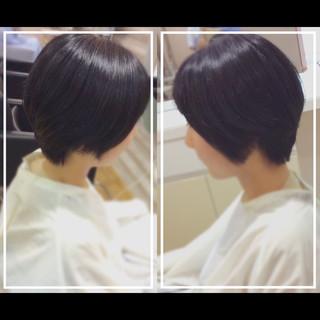 髪質改善 大人ヘアスタイル ナチュラル ショート ヘアスタイルや髪型の写真・画像