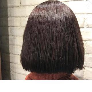 冬 ボブ 暗髪 ピンク ヘアスタイルや髪型の写真・画像 ヘアスタイルや髪型の写真・画像