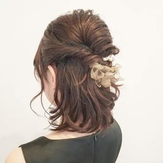成人式 結婚式 デート ミディアム ヘアスタイルや髪型の写真・画像