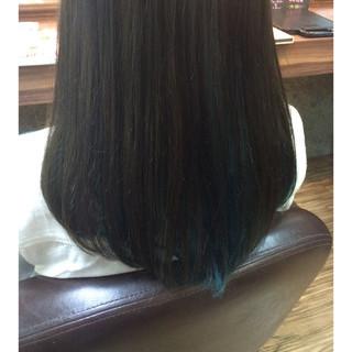 アッシュグレージュ グラデーションカラー ガーリー セミロング ヘアスタイルや髪型の写真・画像