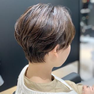 モテ髪 ショートヘア ショート ナチュラル ヘアスタイルや髪型の写真・画像