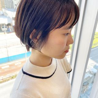 ショート ショートヘア オフィス デート ヘアスタイルや髪型の写真・画像