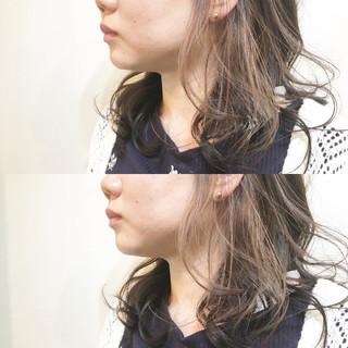 透明感 インナーカラー 色気 ハイトーン ヘアスタイルや髪型の写真・画像