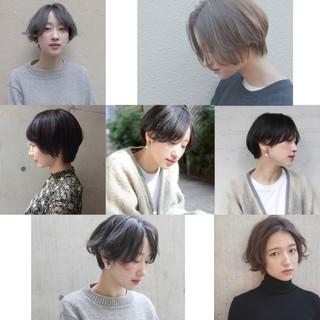 ショート 抜け感 デート ナチュラル ヘアスタイルや髪型の写真・画像