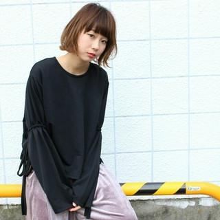 大人女子 ストリート アッシュ ミルクティー ヘアスタイルや髪型の写真・画像