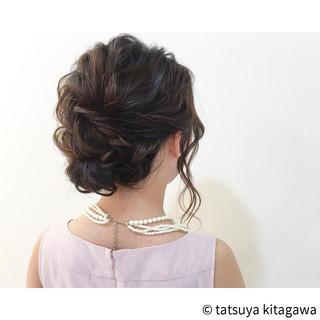 フェミニン 外国人風 ウェーブ ヘアアレンジ ヘアスタイルや髪型の写真・画像