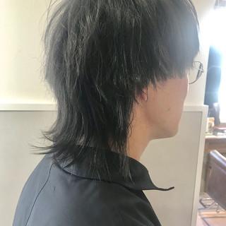 マッシュウルフ モード メンズ ショート ヘアスタイルや髪型の写真・画像