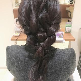 編み込み ショート ヘアアレンジ 大人女子 ヘアスタイルや髪型の写真・画像
