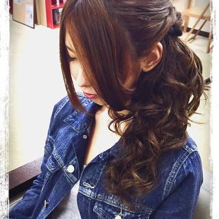 簡単ヘアアレンジ エクステ ロング ショート ヘアスタイルや髪型の写真・画像 ヘアスタイルや髪型の写真・画像