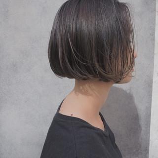 秋 透明感 ナチュラル 切りっぱなし ヘアスタイルや髪型の写真・画像