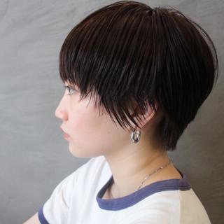 ナチュラル ショートボブ 大人ショート 小顔ショート ヘアスタイルや髪型の写真・画像