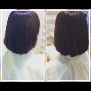艶髪 髪質改善カラー オフィス 髪質改善 ヘアスタイルや髪型の写真・画像