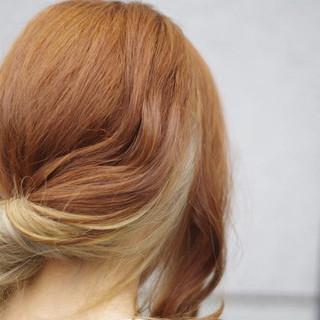 インナーカラー ゆるふわ グラデーションカラー ストリート ヘアスタイルや髪型の写真・画像