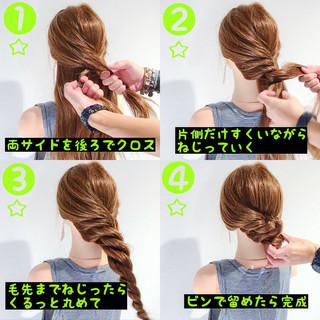 上品 女子会 夏 簡単ヘアアレンジ ヘアスタイルや髪型の写真・画像
