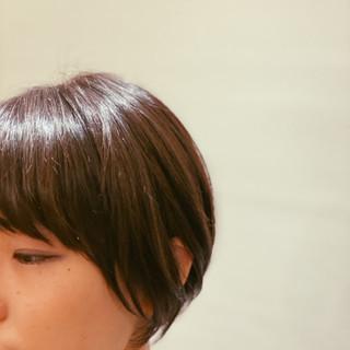 大人かわいい ショート ショートボブ 大人カジュアル ヘアスタイルや髪型の写真・画像