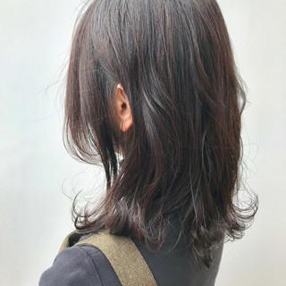 コンサバ ミディアム イルミナカラー デート ヘアスタイルや髪型の写真・画像