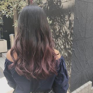 かわいい 波ウェーブ ラベンダー ガーリー ヘアスタイルや髪型の写真・画像