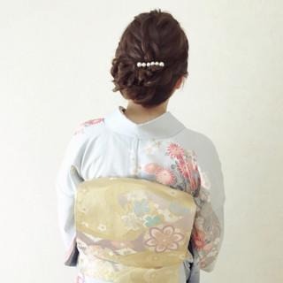 ヘアアレンジ ママ 結婚式 エレガント ヘアスタイルや髪型の写真・画像