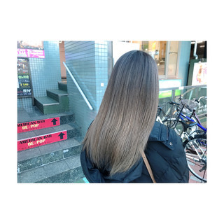 エアータッチ ブリーチカラー ナチュラル グラデーションカラー ヘアスタイルや髪型の写真・画像