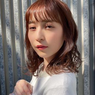 ヘアアレンジ フェミニン モテ髪 ミディアム ヘアスタイルや髪型の写真・画像