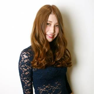 春 外国人風カラー ロング ナチュラル ヘアスタイルや髪型の写真・画像