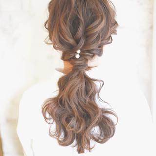 ゆるふわ アッシュ 簡単ヘアアレンジ ヘアアレンジ ヘアスタイルや髪型の写真・画像