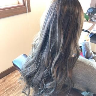 ブルー ブルーアッシュ ネイビー ガーリー ヘアスタイルや髪型の写真・画像
