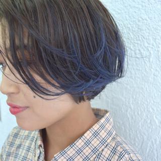 グラデーションカラー ストリート ハイライト ブルー ヘアスタイルや髪型の写真・画像 ヘアスタイルや髪型の写真・画像
