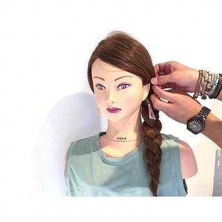 涼しげ フェミニン ヘアアレンジ 簡単ヘアアレンジ ヘアスタイルや髪型の写真・画像