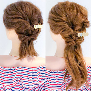 エレガント 簡単ヘアアレンジ ヘアアレンジ デート ヘアスタイルや髪型の写真・画像