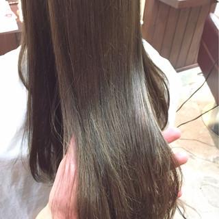 外国人風 ナチュラル グラデーションカラー 暗髪 ヘアスタイルや髪型の写真・画像