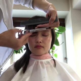 小顔 ナチュラル セミロング ミディアム ヘアスタイルや髪型の写真・画像