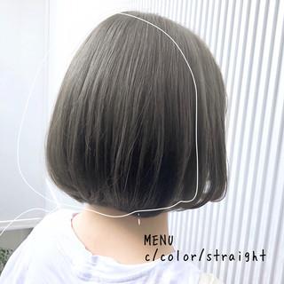 ボブ 前髪 ストレート 髪質改善 ヘアスタイルや髪型の写真・画像