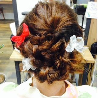 ヘアアレンジ ゆるふわ 前髪あり セミロング ヘアスタイルや髪型の写真・画像 ヘアスタイルや髪型の写真・画像