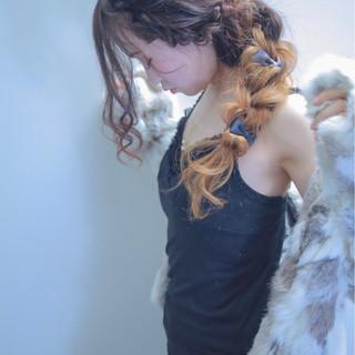 ロング ヘアアレンジ 成人式 編み込み ヘアスタイルや髪型の写真・画像