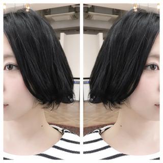 フェミニン ナチュラル 暗髪 ボブ ヘアスタイルや髪型の写真・画像