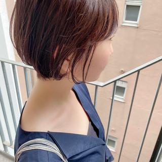 ナチュラル ショート ショートヘア デート ヘアスタイルや髪型の写真・画像