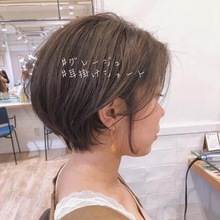 ハイライト アンニュイほつれヘア ショートボブ 小顔ショート ヘアスタイルや髪型の写真・画像