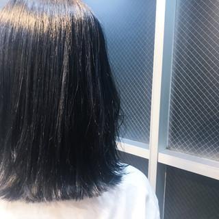 ネイビー ネイビーアッシュ ブルー 女子力 ヘアスタイルや髪型の写真・画像