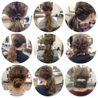 アップスタイル ポニーテール ヘアアレンジ コンサバ ヘアスタイルや髪型の写真・画像