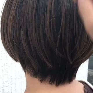ミニボブ ショートボブ ナチュラル サラサラ ヘアスタイルや髪型の写真・画像