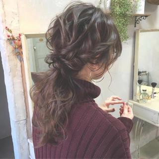 ヘアアレンジ ロング ローポニーテール 大人かわいい ヘアスタイルや髪型の写真・画像