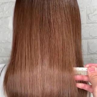 髪質改善 美髪 セミロング サイエンスアクア ヘアスタイルや髪型の写真・画像