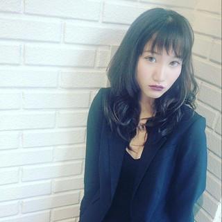 外国人風 モード パーマ ニュアンス ヘアスタイルや髪型の写真・画像