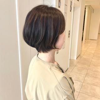 ショート ショートボブ 髪質改善トリートメント ミニボブ ヘアスタイルや髪型の写真・画像