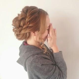 パーティ 大人かわいい エレガント フェミニン ヘアスタイルや髪型の写真・画像