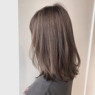 ミディアム 透明感 ナチュラル ロブ ヘアスタイルや髪型の写真・画像